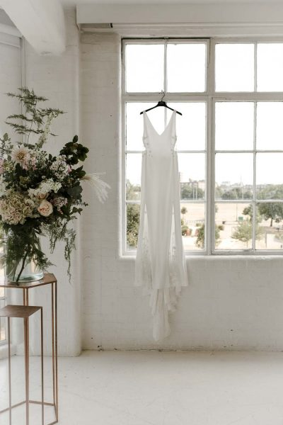 Rime Arodaky dress at JJ wimborne wedding