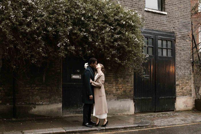 Intimate wedding photographer in London
