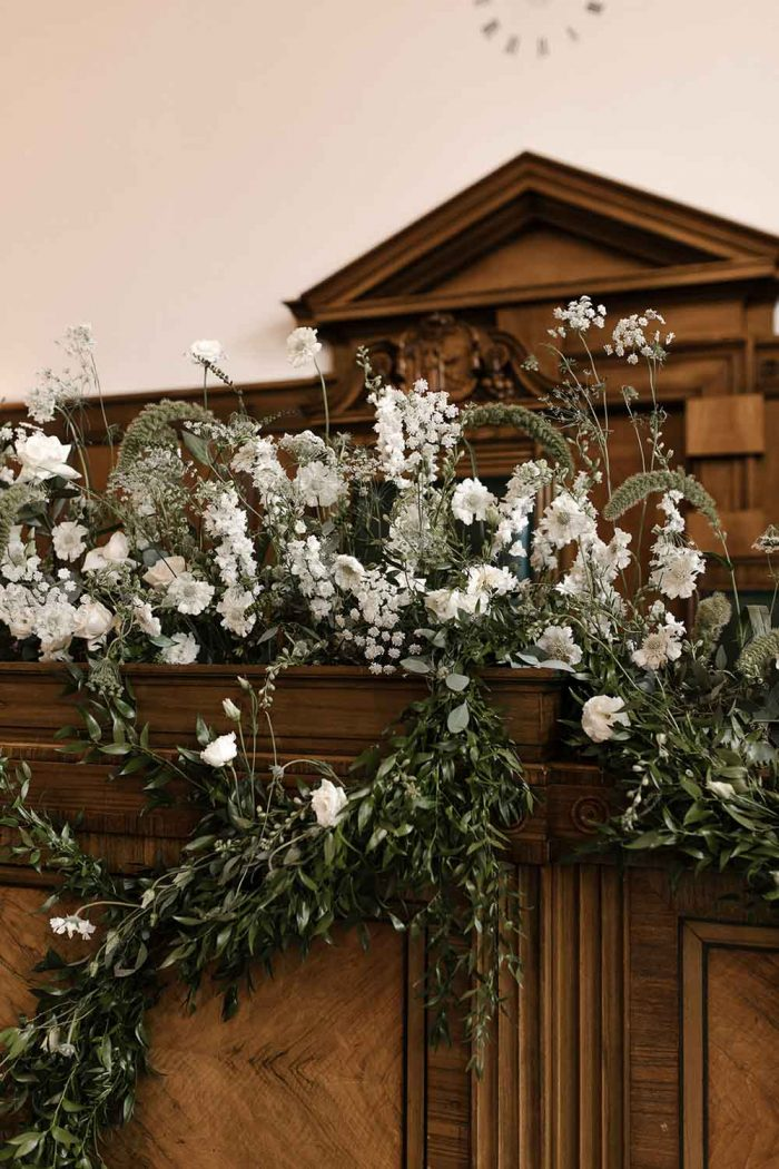 Design by Nature flowers at the Town hall Hotel Wedding