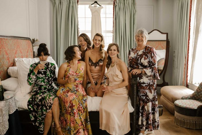 Bridal party at the Ned in London