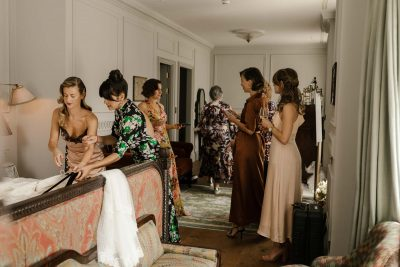 Bridal preparations at the Ned in London