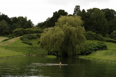 Swimming in Birdsall house lake