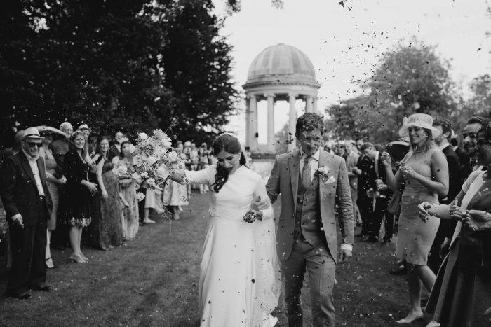 Duncombe Park Wedding ceremony confetti